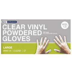Clear Vinyl Gloves Powdered