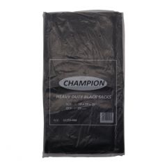 18x29x39 Refuse Sack Black Heavy Duty Champion 40mu Boxed 200