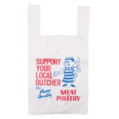11x17x21 Butchers Design HD 20 Mu Vest Carrier Bags